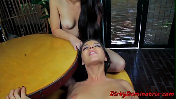 Euro femdoms dickriding and cocksucking sub