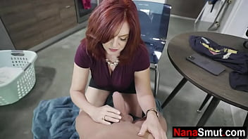 Getting sucked by my horny grandmother