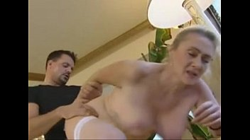 Mature memon - German blonde mature anal and creampie