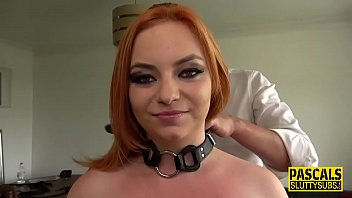 Curvy dominated redhead bound and throated thumbnail