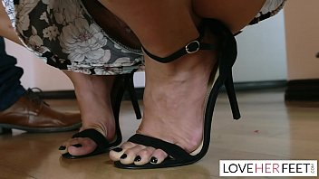 Thumb cuffs on her toes - Babysitter vanessa sky caught stealing and gives footjob