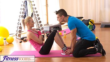 FitnessRooms Bendy Blonde Bends Over for her Personal Trainer preview image