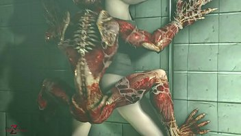 RESIDENT EVIL 2 REMAKE: Licker & Claire Redfield