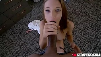 Redhead chick Jaycee Starr bends over her ass and stepbrother start fucking her from behind