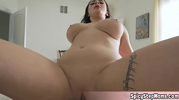 What if your new brunette busty stepmother is a former pornstar