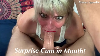 UNEXPECTED CUM IN MOUTH For Real Amateur Girlfriend