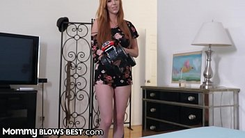 Sexy Redhead Stepmom Knows Hot To Convince Son To Be Nice thumbnail