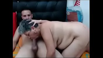 Who are they? - Thick and Sexy Mature Granny with Young Man