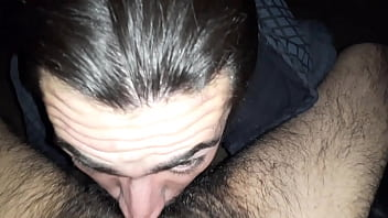 Me sucking Grindr guy and getting a facial