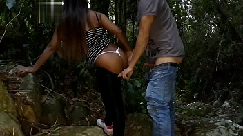Giving your ass at the Delicia waterfall