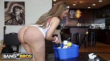 BANGBROS - Jmac Buries His Cock In His Sexy Latin Housekeeper's Big Ass