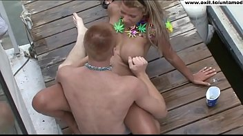 Outdoors sex anarchy with untamed party teens