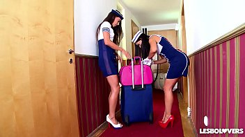 Sex stewardesses Crazy hot spanish stewardess sex with lorena alexa tomas