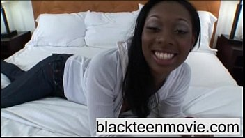 Cute teen takes two Cute ebony teen fucking big cock