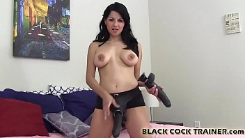 I will show you how to handle a real big black monster cock