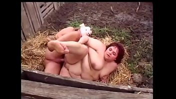 Huge boobs red head chick gets cum after hot fuck outdoors by man in the pig mask