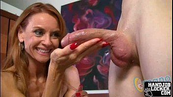 Milf hanjob red head