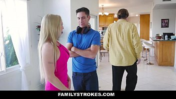 FamilyStrokes - Hot Step-Mom (Christie Stevens) Seduces and Fucks Young StepSon