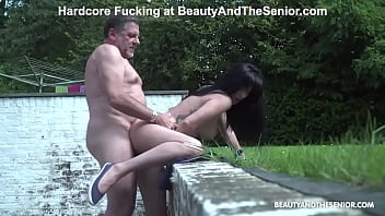Senior slips his dirty old cock in
