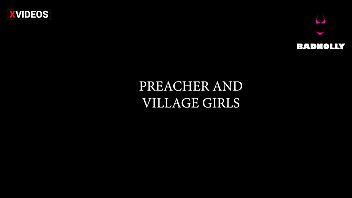 PREACHER AND VILLAGE GIRLS