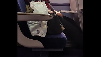 Fat chav on the train. Don't  see me film.
