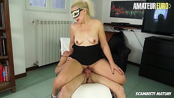 AMATEUR EURO - Big Ass Romanian Mature Gloria D. Gets Huge Young Cock For Her Horny Pussy