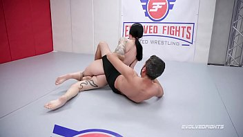 Charlotte Sartre rough nude wrestling fight against Jay West thumbnail