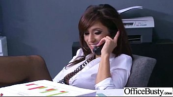 Hard Sex On Cam In Office With Big Juggs Gorgeous Girl (reena sky) clip-26