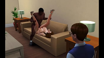 Streaming Video Sims 4:  Big Tit Milf Fucks to Pay Off S's Debt, Makes Him Watch - XLXX.video