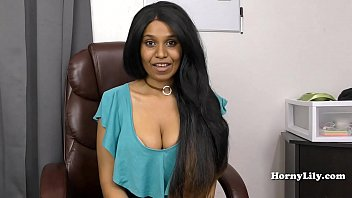 CoverSlutty Tamil secretary shows off her skills to her boss in Tamil