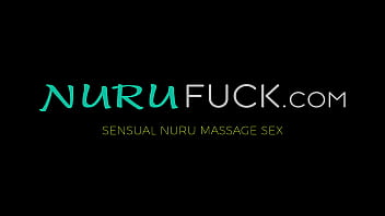 Blue hair erotic Jewelz Blu riding cock after nuru massage