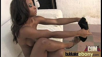 Ebony whore rides cocks and swallows sperm 21