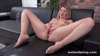 Delphine Toys Her Piss Soaked Pussy