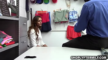 Milf Aila Donovan taking the pervy officers big meat deep into her muff