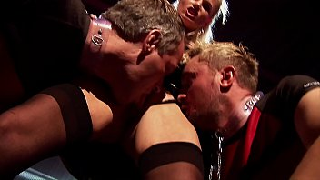 Kinky Swingers Club Rough Throat & Ass Fucking Group Sex. Anal and Deepthroating Gangbang in a Fetish Dungeon