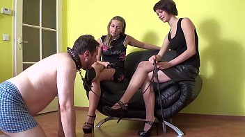Dominant Ladies have fun with Shoe-Licking-Slaves