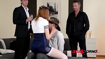 Redhead Linda Sweet turns Bachelor's party into double penetration orgy GP572