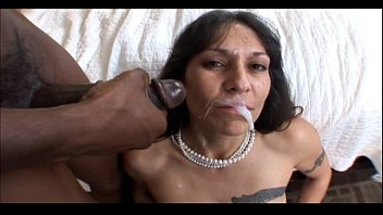 Mature pussy facials Mature milf bangs black cock and gets a big facial in hot mom pussy video