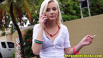 Teen smoking and smoking parents - Stranded smalltits teen gets a messy facial