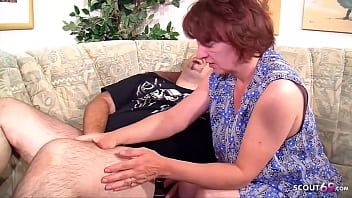 FAT GUY CATCH CHEATING MATURE MAID - GERMAN WIFE JOIN FFM 15 min
