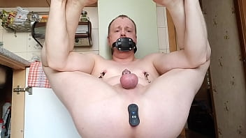 """LanaTuls - Gag Plug in Mouth and Cock Locked in Small Chastity then Fucked by Strongest Butt Plug Vibrator <span class=""""duration"""">18 min</span>"""
