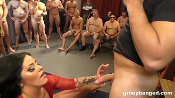I cum in her hard video Ashley cumstar groupbanged in all her glory holes
