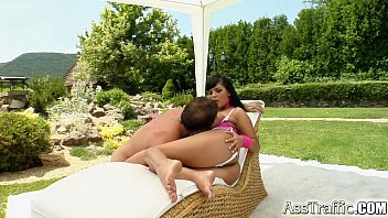 Big titted Jasmine is screwed in the ass and sperm shot