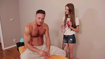 Willow Hayes and Danny Fucking Hard after massage
