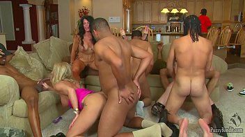 Wife eats cum at swingers party Epic orgy