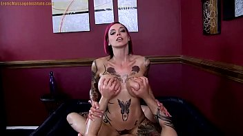 Anna Bell Peaks Gives Erotic Oil Body Massage   Sex and Blowjob