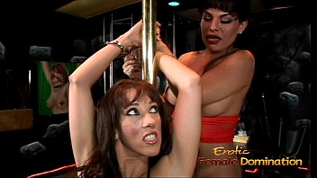 Transsexual bdsm - Foxy t-girl enjoys having some kinky fun with her slim brunette lover
