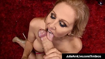 Best blow job video famous person - Big boobed blonde milf julia ann strokes blows your dick