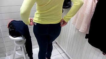 Pissing in the public toilet and undressing in the dressing room at the mall.
