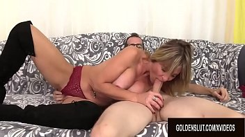 Wild old mature Hot and wild fuck session with mature blonde floozy sky haven